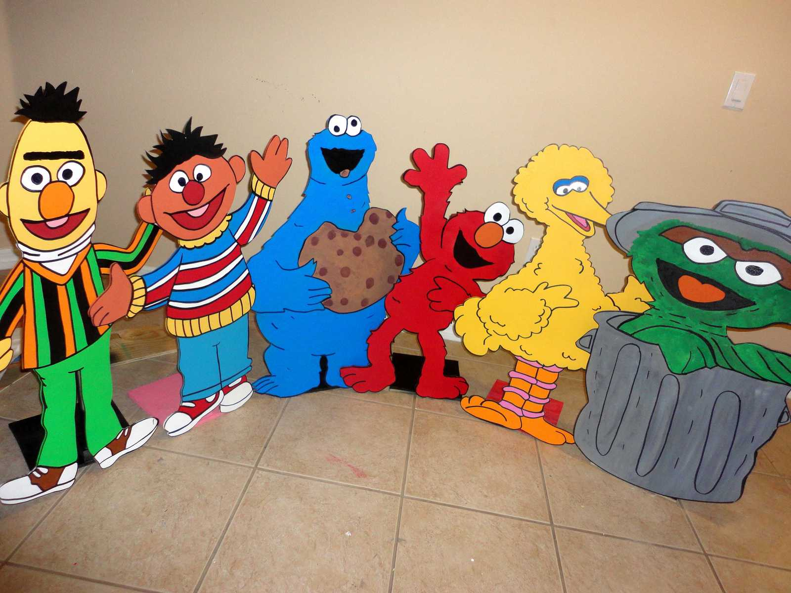 3 feet Sesame Street Birthday party Centerpiece. Photo Props - One character