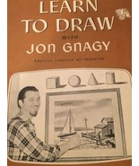 Vintage Learn To Draw with Jon Gnagy 1950 Book ... - $8.59