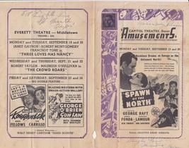 Gene Autry Ginger Rogers George Raft Fonda 1938 ad sheet for Delaware Th... - $9.89