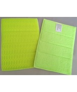 Microfiber Cleaning Scrub Pads 2 Lime Green Scr... - $2.50