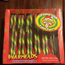 Warheads: Box of 12 Candy Canes Expiration May ... - $13.09