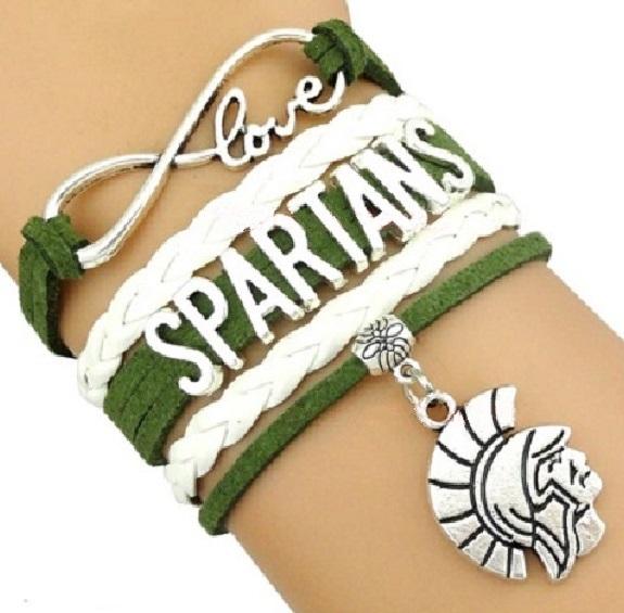 Michigan State Spartans Fan Shop Infinity Bracelet Jewelry
