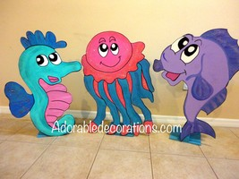 Under the Sea Birthday Party  Photo Props 3ft  ... - $49.99