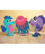 Under the Sea Birthday Party  Photo Props 3ft  Standees one character  - $49.99