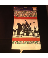 Kitchen Cotton Towel Silhouette Santa Claus Reindeer Christmas Tree Abso... - $39.99