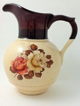 Vintage McCoy Pottery Pitcher Rose Pattern #7541 - $13.10