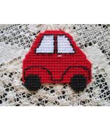 Little Red VW Bug Car Magnet Plastic Canvas Nee... - $5.00