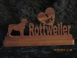 Rottweiler - Solid Wood Dog Breed Desk Plaque - Hand Cut & Finished - $25.00