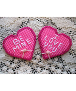 Valentine Heart Pockets Plastic Canvas Needlecraft - $6.00