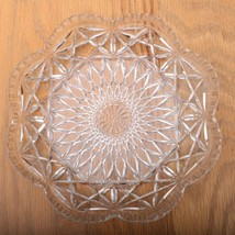 Vintage Clear Glass Star Pattern Plate Dish - $28.04