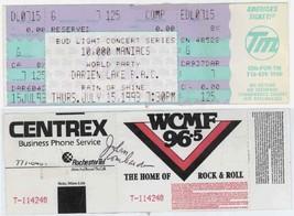 AUTOGRAPHED 10,000 MANIACS & WORLD PARTY 7/15/93 Buffalo NY Concert Ticket! - $14.84