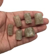 54.9 Grams, 6 pcs, Rough Natural Green Apatite Crystals From Afghanistan,18mm... - $13.85