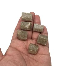 74 Grams, 6 pcs, Rough Natural Green Apatite Crystals From Afghanistan,16mm-2... - $18.80