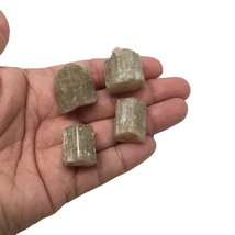 53.8 Grams, 4 pcs, Rough Natural Green Apatite Crystals From Afghanistan,19mm... - $13.85