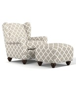 Wing ArmChair With Ottoman Stool Accent Livingroom Furniture - $515.92