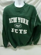NFL TEAM APPAREL New York Jets Pull Over Sweatshirt Sz L   - $18.49