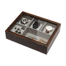Executive High class Cufflink Case & Ring Storage Organizer Men's Jewelr... - €41,87 EUR