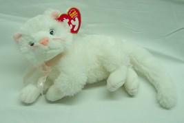 "TY Beanie Baby BIANCA THE SOFT WHITE CAT 8"" Plush STUFFED ANIMAL Toy NEW - $16.34"