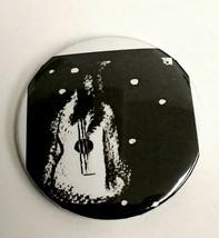 Black and White Guitar Art Pinback Punk Button - $5.99