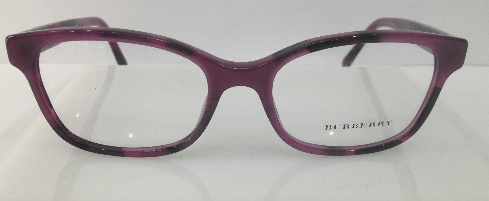 Burberry Glasses Frame Parts : BURBERRY B 2201 COL 3519 HAVANA PURPLE PLASTIC EYEGLASSES ...