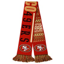 """Nwt Nfl 2015 Reversible Ugly Sweater Scarf 64"""" Long By 7"""" - San Francisco 49ERS - $20.99"""