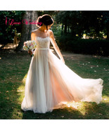 2017 Ivory Tulle Beach A-Line Wedding Dresses Formal Bridal Gowns Custom... - $129.00