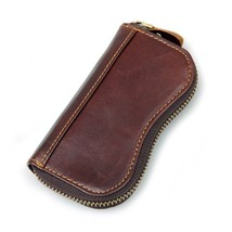 Key Holder Change Coin ID Credit Card Wallet Genuine Leather Case Men Ac... - $13.54
