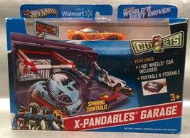 Hot Wheels City Sets X-Pandables Garage Playset Y2065 With Orange #3 Car... - $19.44