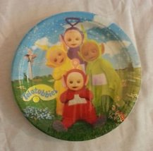 Teletubbies Unique and Rare Hard to Find Lunch Dinner Plates 8ct - $24.70