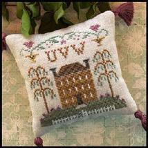 UVW - #8 Little House ABC Samplers cross stitch chart Little House Needlework - $5.40