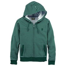 TIMBERLAND 6153J 344 MEN'S GREEN STRIPED FULL ZIP HOODIE SZ M - $58.00