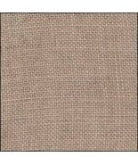 FABRIC CUT 30ct creek bed brown linen 11x11 for... - $9.00