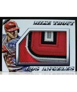 Mike Trout 4 Color Jumbo Jersey Patch Card Limited /10 Angels Nice! - $59.99