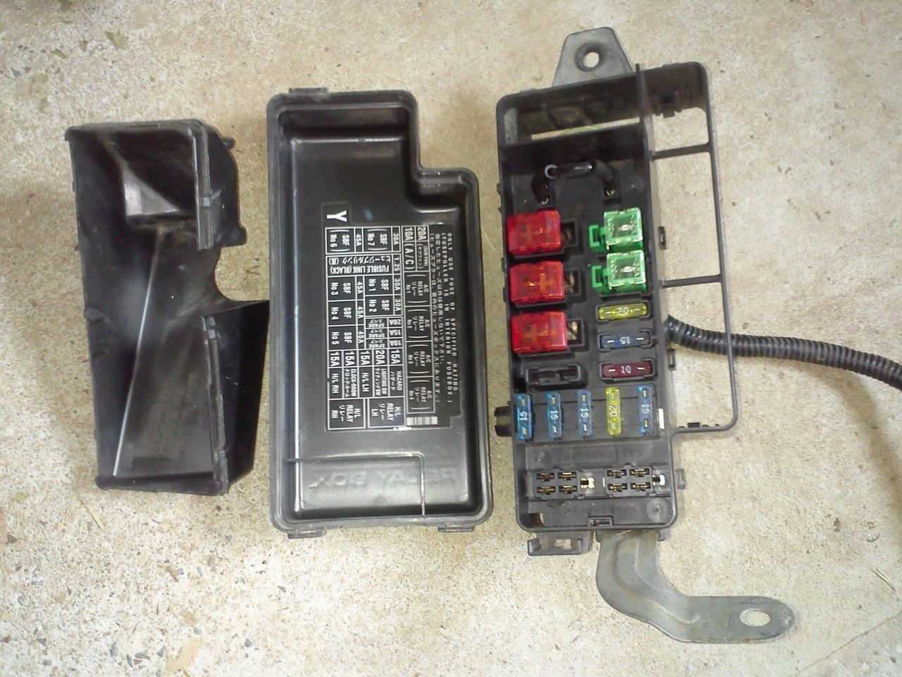 Subaru Legacy 95 99 Fuse Box With Covers & And 16 Similar Items 1999 Subaru  Outback Fuse Diagram 95 Subaru Fuse Box