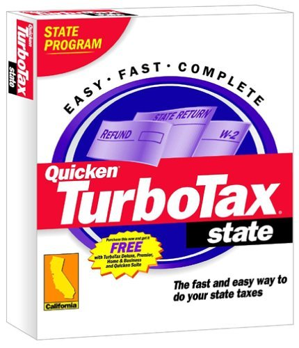 TurboTax 2001 CA State [CD-ROM] Windows 98 / Windows 2000 / Windows Me / Wind...
