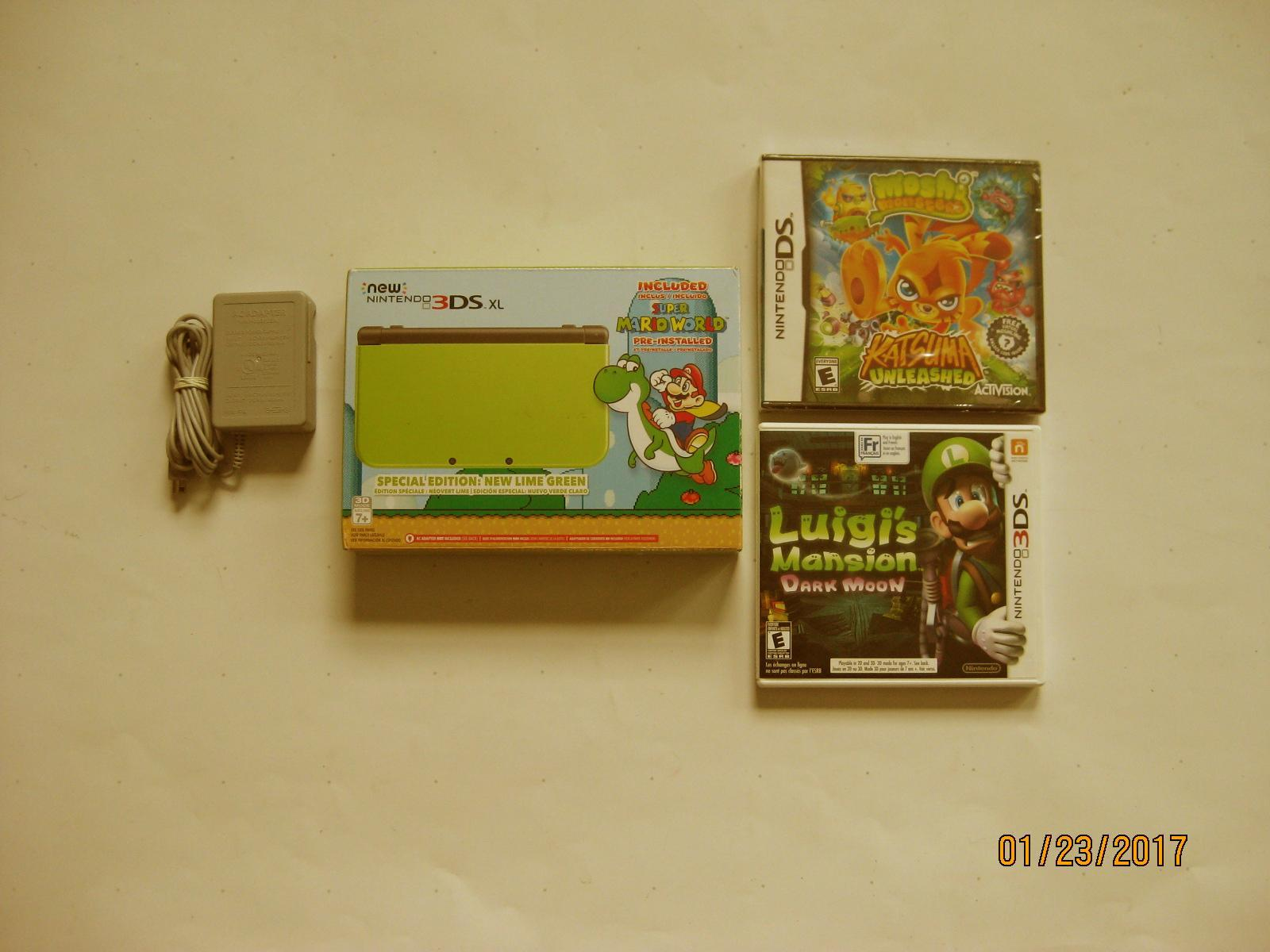 Primary image for Lime  Nintendo New 3ds xl Yoshi Edition w Luigi's Mansion & More!!!