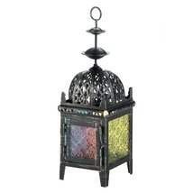 Multicolor Medallion Candle Lantern - $12.69