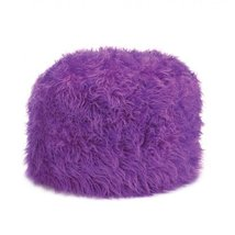 Koehler Home Kitchen Decorative Gift Fuzzy Orchid Soft Comfortable Pouf ... - £42.00 GBP