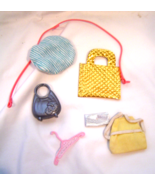 Vintage Barbie Doll Accessories Set of 7 Bags Hanger Harness Hat Backpack - $9.99
