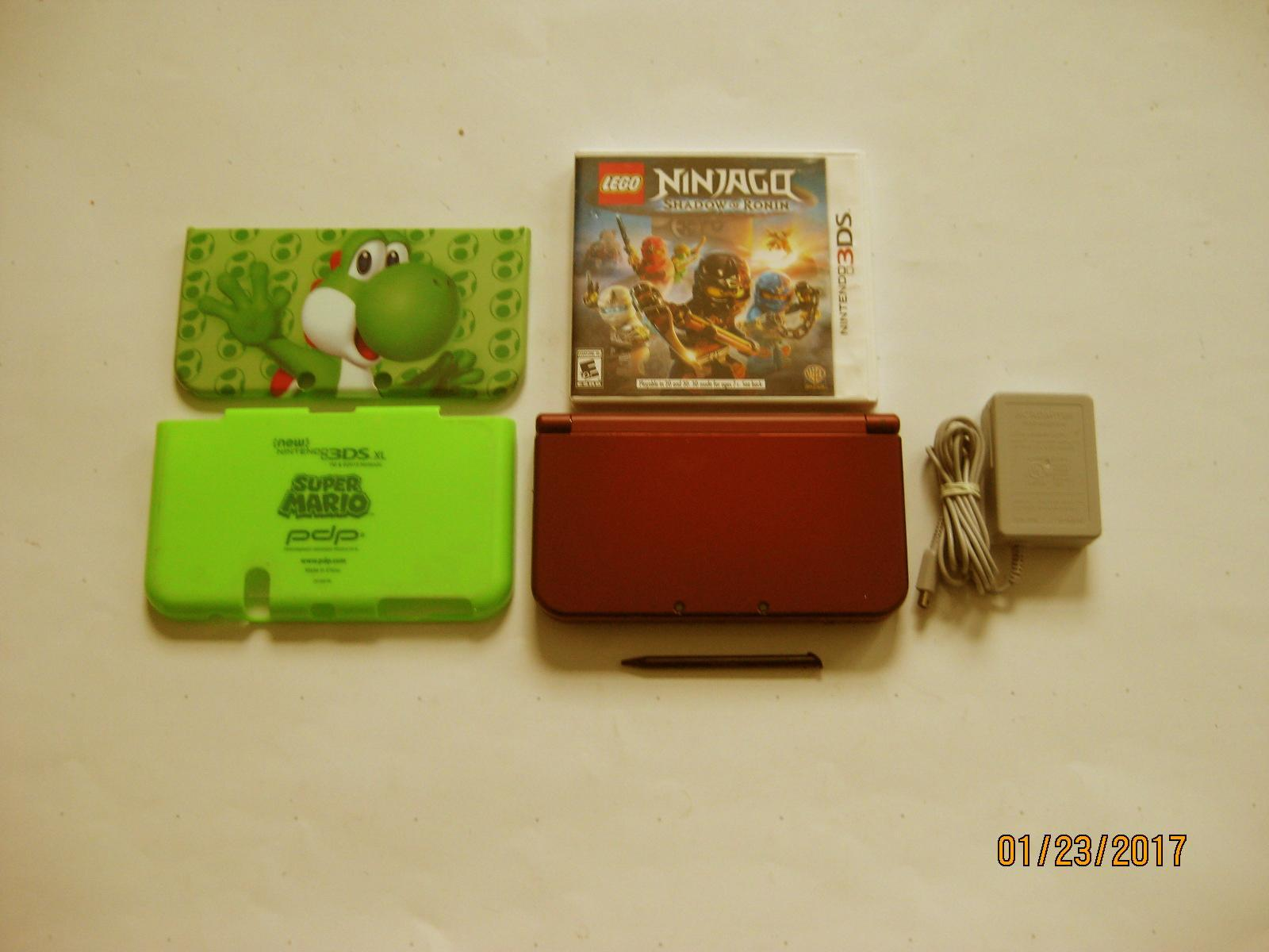 Primary image for Red Nintendo New 3ds xl w Yoshi & More!!!