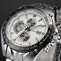 Curren 8083 Quartz Men's Wrist Watch Big Dial Waterproof Steel Watch Male Clock  - $113.36