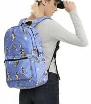 Star Wars Disney Droids Print R2D2 BB8 C3PO Falcon School Book Bag Backpack - $22.27