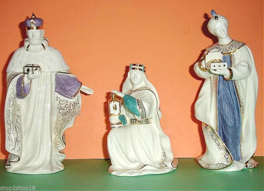 Lenox First Blessing Nativity The Three Kings 3 PC. Figurine Set New