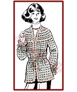 Crocheted Cardigan Pattern in Easy Shell Stitch Pattern - $5.99
