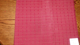 Dark Persimmon Square Print Upholstery Fabric Remnant  1 Yard F61 - $29.95