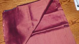 Burgundy Stripe Print Upholstery Fabric Remnant  1 Yard F67 - $29.95