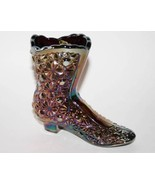 Fenton Glass Amethyst Carnival Daisy & Button Shoe Boot  #1609 - $27.50