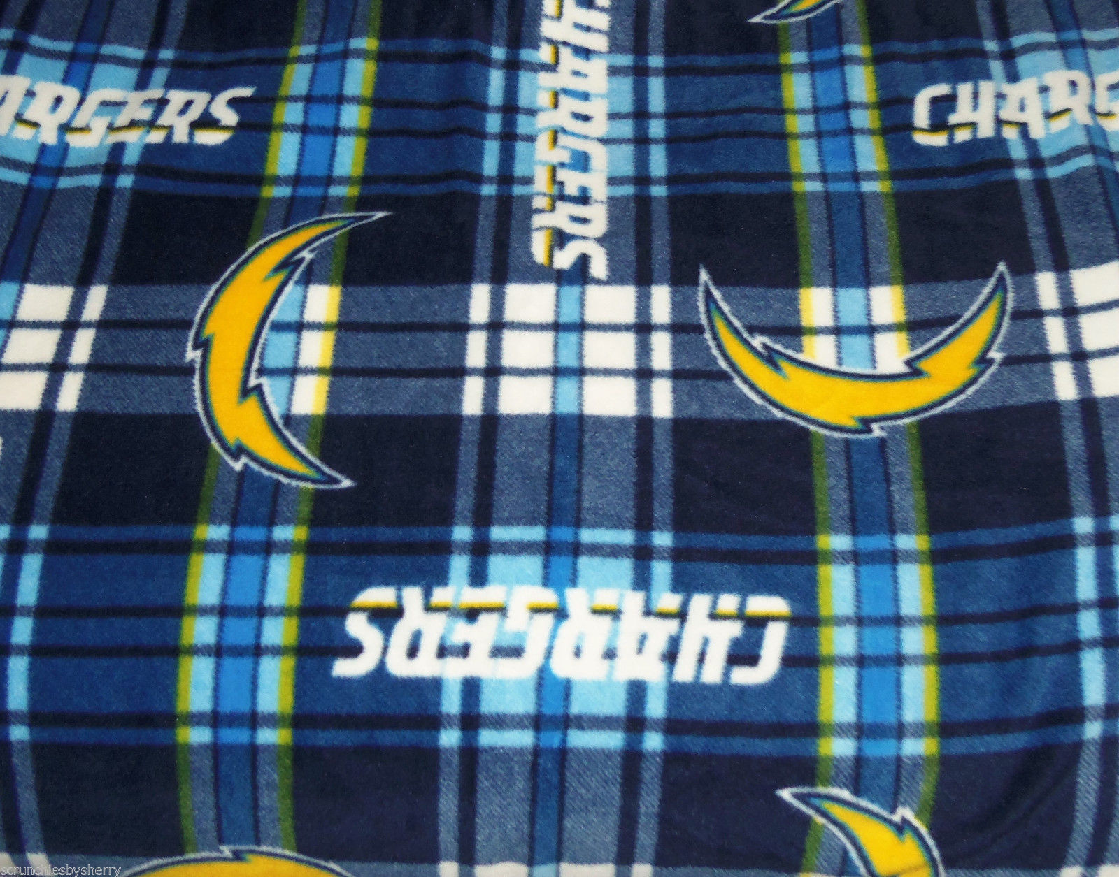 San Diego Chargers Blanket Plaid Fleece Baby Pet Dog Nfl