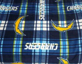 San Diego Chargers Blanket Plaid Fleece Baby Pet Dog NFL Football Shower... - $39.95