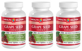 Grape Seed Extract 50mg Powerful Antioxidant (3 Bottles) Free Shipping - $26.14